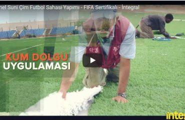 FIFA Sertifikalı Suni Çim Futbol Sahası Yapımı - Video